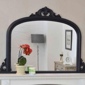 Bishop Black Over Mantle Mirror 127x91cm