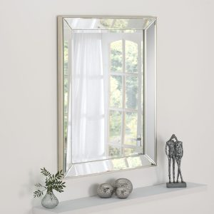 Boston Silver Raised Edge Mirror 105x77cm