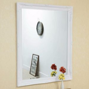 Buckland Large White Mirror 140x109cm