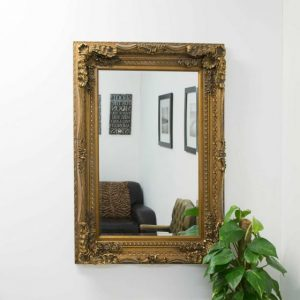Charlton Gold Framed Mirror 118x87cm