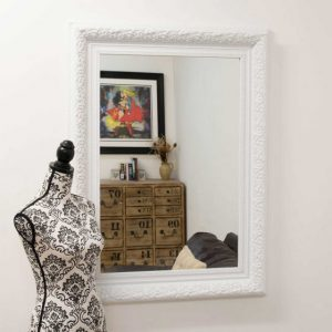 Devonshire White Framed Mirror 117x87cm