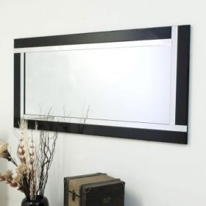 Exminster Black Full Length Mirror 174x85cm