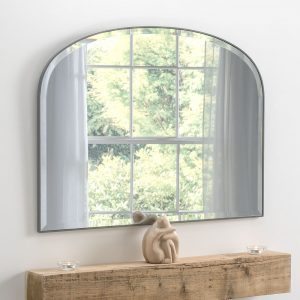 Holland Grey Over Mantle Mirror 93x71cm