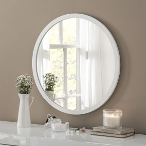 Manhattan White Circle Mirror