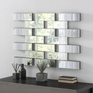 Maze Glass Brick Wall Mirror 101x71cm