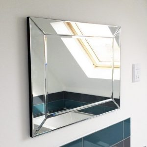 Newton Frameless Glass Mirror 66x58cm