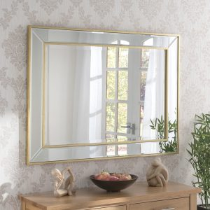 Regent Gold Bevelled Mirror (4 Sizes)