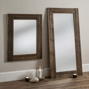 Rustic Wooden Framed Mirror