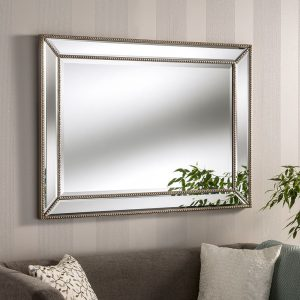 Ashley Beaded Silver Mirror (2 Sizes)