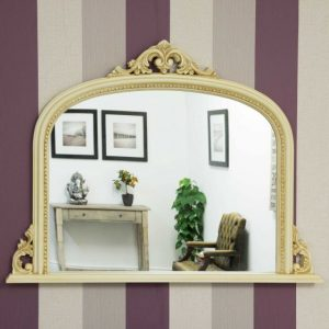 Bishop Cream Over Mantle Mirror 127x91cm