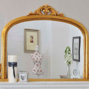 Bishop Gold Over Mantle Mirror 127x91cm