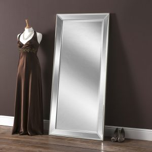 Boston Silver Raised Edge Mirror 140x64cm