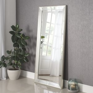 Boston Silver Raised Edge Mirror 170x79cm