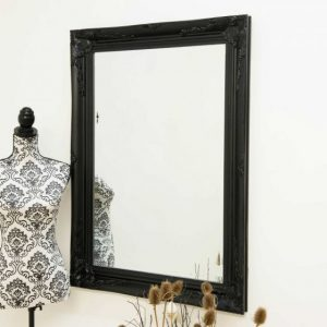 Buckland Black Framed Mirror 110x79cm