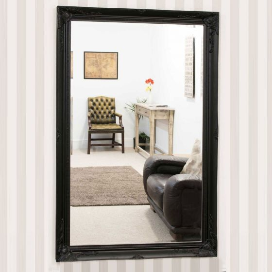 Buckland Large Black Mirror 170x109cm