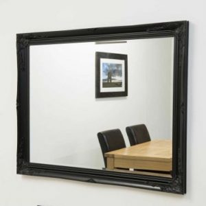 Buckland Large Black Mirror 140x109cm