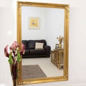 Buckland Large Gold Mirror 170x109cm