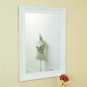 Buckland White Framed Mirror 110x79cm