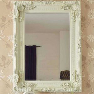 Charlton Cream Framed Mirror 118x87cm