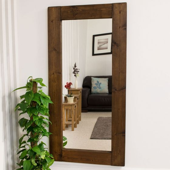 Cottage Rustic Wood Mirror (6 Sizes)