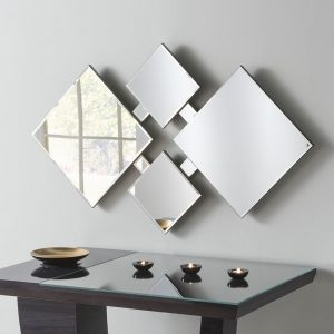 Diamond Art Deco Glass Mirror 74x122cm