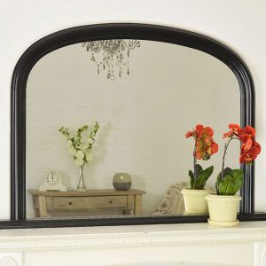 Dolton Black Over Mantle Mirror 120x79cm