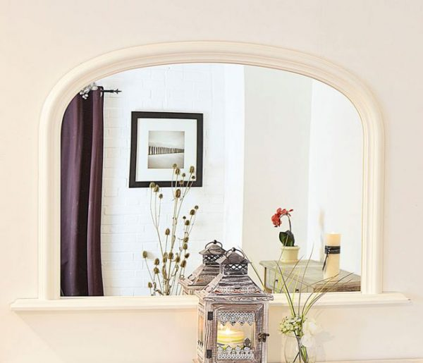 Dolton White Over Mantle Mirror 120x79cm