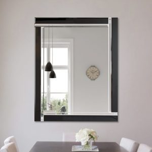 Exminster Black Glass Mirror 116x144cm