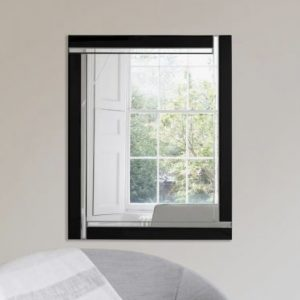 Exminster Black Glass Mirror 120x80cm