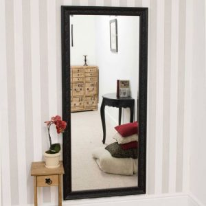 Hampton Black Full Length Mirror 160x73cm