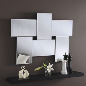 Hollywood Block Art Deco Mirror 77x107cm