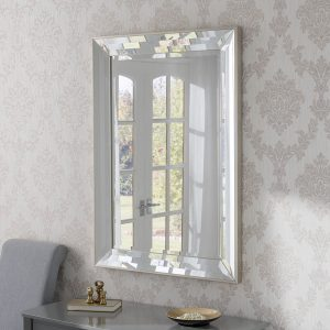 Kenwood Silver Triple Bevelled Mirror 105x77cm