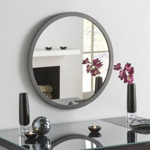 Manhattan Dark Grey Circle Mirror (7 Sizes)