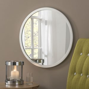 Manhattan Silver Circle Mirror (7 Sizes)