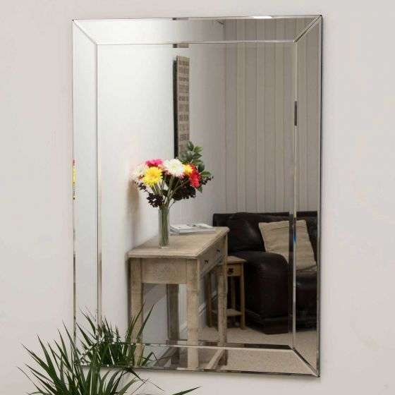 Newton Glass Wall Mirror 110x78cm