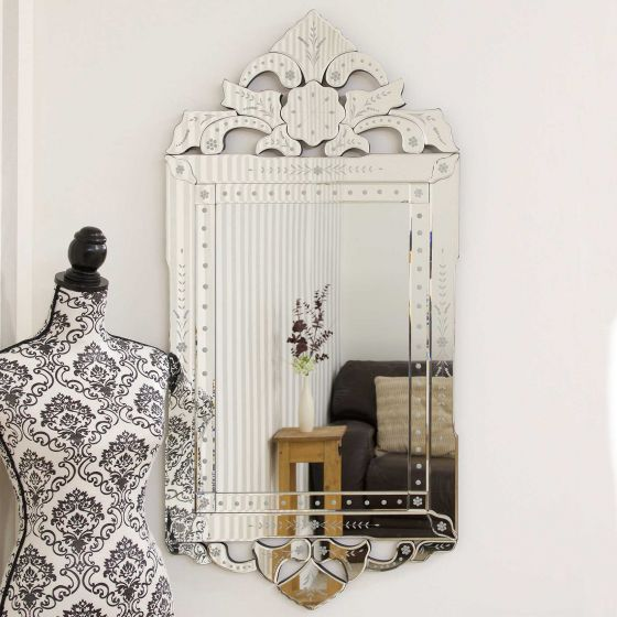 Orchid Ornate Venetian Mirror 122x59cm