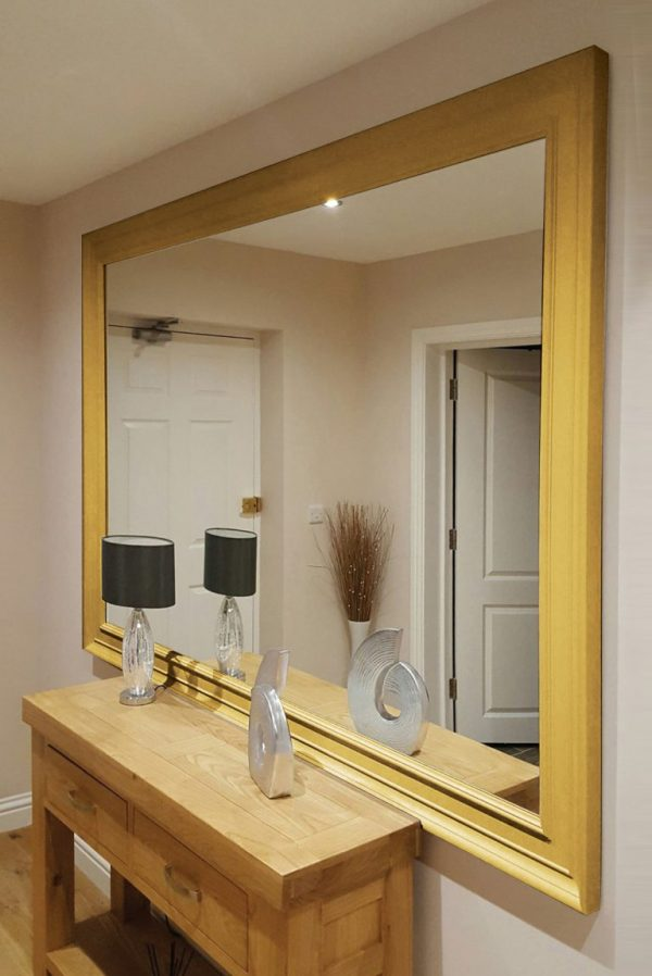 Oxford Extra Large Gold Mirror 206x145cm