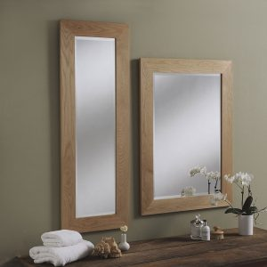 Solid Oak Framed Wall Mirror
