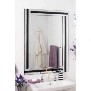 Tavistock Black Glass Mirror 100x70cm