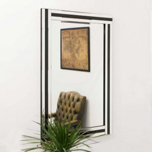 Tavistock Black Glass Mirror 120x80cm
