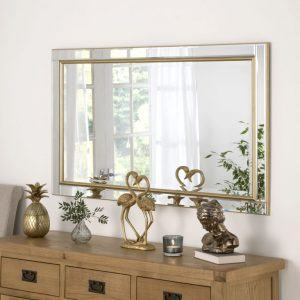 Bespoke British Made Verona Gold Mirror