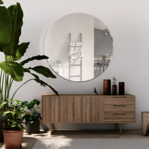 Bordeaux Round Glass Wall Mirror (3 Sizes)